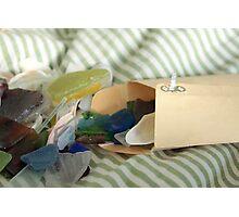 Envelope of Sea Glass Photographic Print