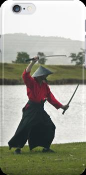 Samurai Swordman - iPhone case by Odille Esmonde-Morgan