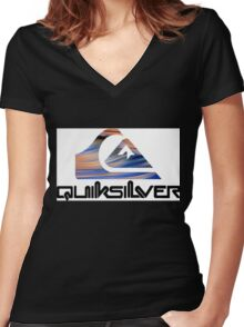 Quicksilver Women's Fitted V-Neck T-Shirt