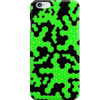 Green Cubes on Black iPhone Case/Skin