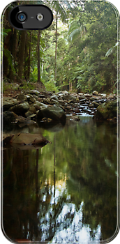A Pool in the Forest - iPhone case by Odille Esmonde-Morgan