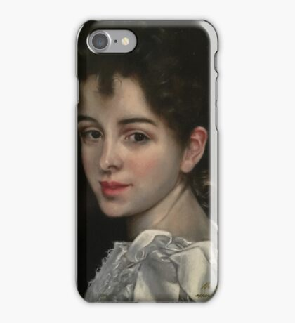 Gabrielle, After Bouguereau iPhone Case/Skin