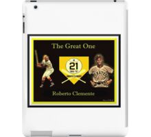 """Roberto Clemente - """"The Great One"""" iPad Case/Skin"""