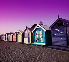 Brighton Bathing Sheds by madcowgirl
