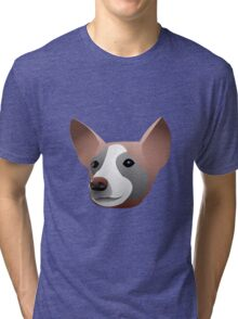 What Does the Dog Say? Tri-blend T-Shirt