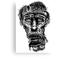 Slack-Jaw Zombie Canvas Print