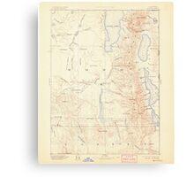 USGS Topo Map California Alturas 299714 1892 250000 Canvas Print