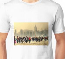 sightseeing in Hong Kong, the girl in a red jacket Unisex T-Shirt