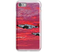 """Red Tails in the Sunset"" iPhone Case/Skin"