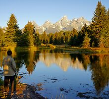 Teton Morning by Harry Oldmeadow