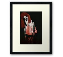 What is Black and White and Red All Over? Zombie Raggedy Ann Framed Print
