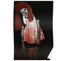 What is Black and White and Red All Over? Zombie Raggedy Ann Poster