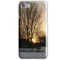 sunset woods iPhone Case/Skin