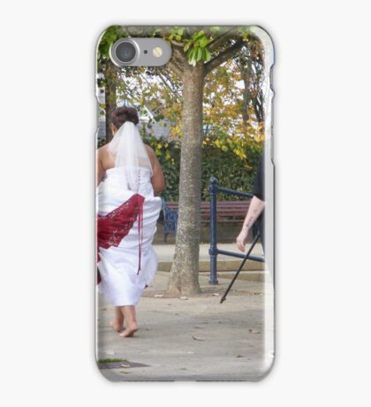 One Bride, One Groom And Three Photographers!! iPhone Case/Skin