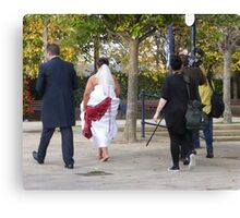 One Bride, One Groom And Three Photographers!! Canvas Print