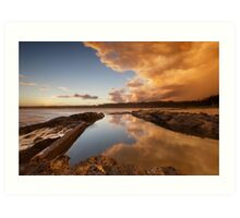 Sawtell Ocean Pool Reflection Art Print