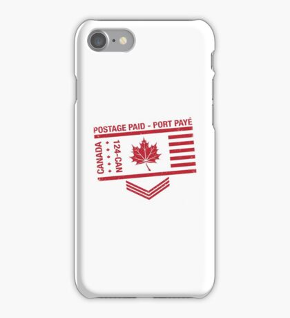 Postage Paid Canada iPhone Case/Skin