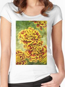 Golden Blossoms Women's Fitted Scoop T-Shirt