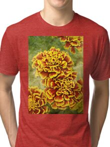 Golden Blossoms Tri-blend T-Shirt