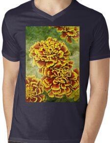 Golden Blossoms Mens V-Neck T-Shirt