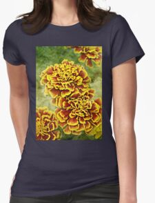 Golden Blossoms Womens Fitted T-Shirt