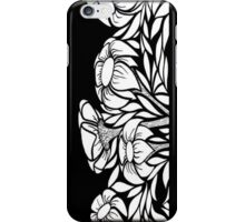 iphone case - black and white flowers iPhone Case/Skin