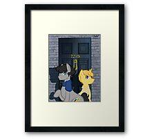 The Adventures of Sherlock Hooves: 221B Framed Print