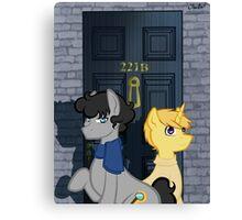 The Adventures of Sherlock Hooves: 221B Canvas Print
