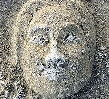 Face in the Sand iPhone Case by VixenFirepaw
