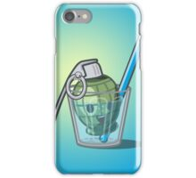 Green Grenade in Lemonade iPhone Case/Skin