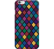 Moroccan Pattern - Jewel Toned (Black Border) iPhone Case/Skin