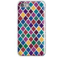 Moroccan Pattern - Jewel Tones (White Back) iPhone Case/Skin
