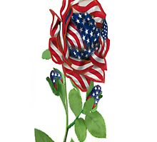 ⊱✿ ✿⊰⊹ Stars & Stripes Rose i Phone Case Made in Remembrance of 9-11⊱✿ ✿⊰⊹  by ✿✿ Bonita ✿✿ ђєℓℓσ