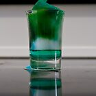 green foam in a shot glass by claire87