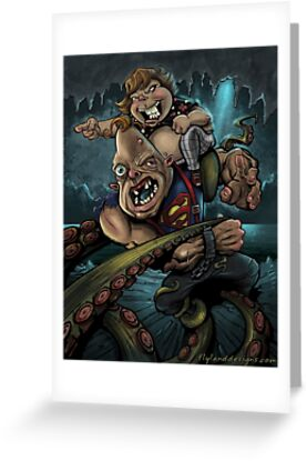 Sloth and Chunk vs. The Giant Squid by Brian Allen