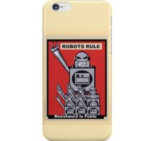 Robot Poster  iPhone Case/Skin