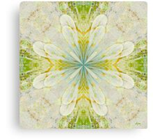 White On Green  Canvas Print
