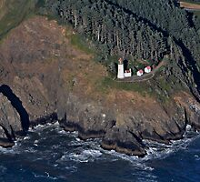 Aerial View of Heceta Head Lighthouse, Oregon by Kay Martin