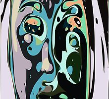 Abstract face 9 by ChrisButler