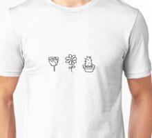 Minimalist Flowers Unisex T-Shirt