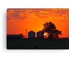 Sunset over the Farm Canvas Print