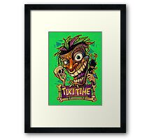 Tiki Time Framed Print