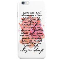 taylor swift clean speech iPhone Case/Skin