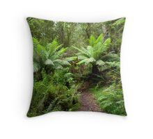 Tree Ferns. The Otways. Throw Pillow