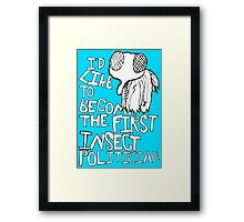 Insect Politician. (The Fly) Framed Print