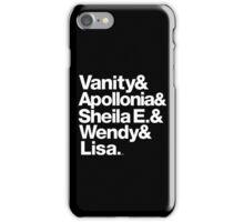 Prince Protégés Apollonia & Carmen Electra Helvetica Threads iPhone Case/Skin
