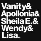 Prince Protégés Apollonia & Carmen Electra Helvetica Threads by juk8ox