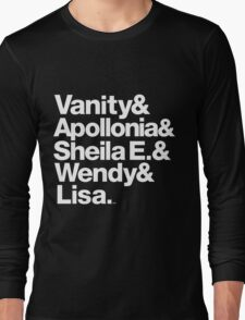 Prince Protégés Apollonia & Carmen Electra Helvetica Threads Long Sleeve T-Shirt