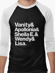 Prince Protégés Apollonia & Carmen Electra Helvetica Threads Men's Baseball ¾ T-Shirt
