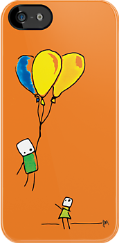 Shiny Metal Thing - 3 Balloons Orange by ShinyMetalThing